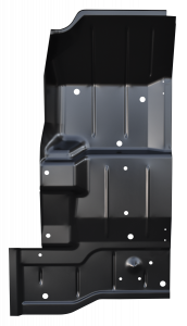 KeyParts Full Length Floor Pan RH For 76-95 Jeep CJ-7 & Wrangler YJ 0480-234