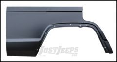 KeyParts Replacement Rear Quarter With Dog Leg (Passenger Side) For 1984-01 Jeep Cherokee XJ 4 Door Models 0482-132R