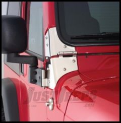 Rampage Windshield Hinges In Stainless Steel Pair For 1976-95 Jeep CJ Series & Wrangler YJ 7403