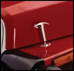 Rampage Hood Catch Kit Stainless Steel For 1942-95 Jeep CJ Series & Wrangler YJ 7401