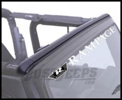 Rampage Windshield Channel Header Style No Drill Black For 1997-06 Jeep Wrangler TJ 901004