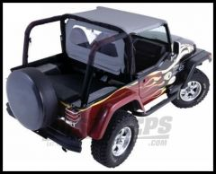 Rampage Roll Bar Pad & Cover Kit (Center Hoop Included) Denim Black For 1997-02 Jeep Wrangler TJ 769015
