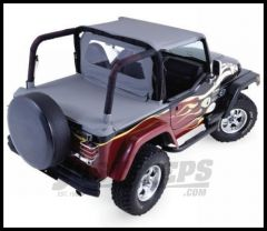 Rampage Rear Tonneau Cover Diamond Black For 1997-06 Jeep Wrangler TJ  With Factory Soft Top Folded 761035