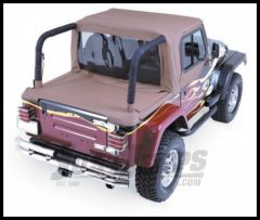 Rampage Rear Tonneau Cover Denim Spice For 1997-06 Jeep Wrangler TJ  With Factory Soft Top Folded 761017