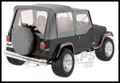 Rampage Soft Top OEM Replacement Skin & Windows With Upper Door Skins Denim Grey For 1987-95 Jeep Wrangler YJ 99611