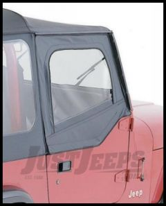 Rampage Door Skins Pair (For Soft Upper Half Doors) Charcoal Gray For 1987-95 Jeep Wrangler YJ 89611