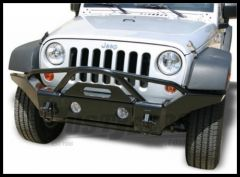 Rampage Front Recovery Bumper With Stinger Semi Gloss Black For 2007-18 Jeep Wrangler JK 2 Door & Unlimited 4 Door (Lights Sold Separately) 86510