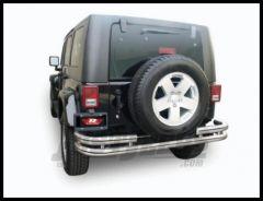 Rampage Rear Double Tube Bumper Stainless Steel For 2007-18 Jeep Wrangler JK 2 Door & Unlimited 4 Door 86448