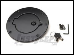 Rampage Billet Style Gas Cover Locking Door Design With Keys For 1997-06 Jeep Wrangler TJ Black Off Road Coat 85006