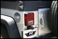Rampage Billet Style Gas Cover Locking Door Design With Keys For 2007-18 Jeep Wrangler JK 2 Door & Unlimited 4 Door Polished Billet 85001