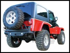 Rampage Rear Recovery Bumper HD With Swing Away Tire Carrier For 1987-06 Jeep Wrangler YJ & TJ Textured Finish (lights sold separately) 78615