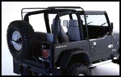 Rampage Soft Top Replacement Hardware For 1987-95 Jeep Wrangler YJ With Soft Upper Half Doors (includes Adjustable Spreader Bar) 69999