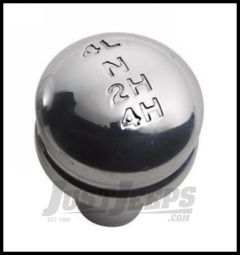 Rampage Billet Shift Knob With Transfer Case 4 Wheel Drive Shift Pattern For 1987-95 Jeep Wrangler YJ 46009