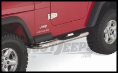 Rampage Body Side Guards With Step Polished Stainless Steel For 1987-06 Jeep Wrangler YJ & TJ 9425