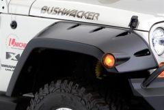Bushwacker Front Pocket Style Extended Fender Flares For 2007-18 Jeep Wrangler JK 2 Door & Unlimited 4 Door Models