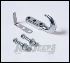 Rampage Tow Hook Kit Chrome For 1942-95 Jeep CJ Series & Wrangler YJ 7505