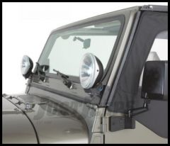 Rampage Windshield Hinge Light Brackets Stainless Steel Pair For 1997-06 Jeep Wrangler TJ 7490