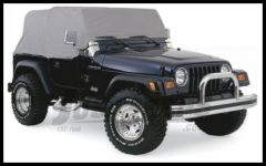 Rampage Water Resistant Cab Cover For 1992-06 Jeep Wrangler YJ & TJ Gray 1161
