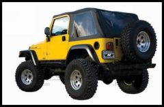 Rampage Frameless Soft Top Kit In Black Diamond Sailcloth With Tinted Windows For 1997-06 Jeep Wrangler TJ 109735