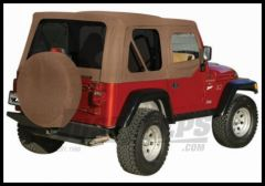 Rampage Soft Top OEM Replacement Skin & Windows With Upper Door Skins Spice Denim With Tinted Windows For 1997-06 Jeep Wrangler TJ 99517