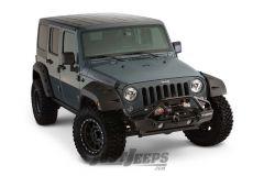 """Bushwacker 9.5"""" Width Pocket Style Fender Flares For 2007-18 Jeep Wrangler JK Unlimited 4 Door Models"""