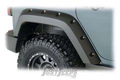 Bushwacker Rear Pocket Style Fender Flares For 2007-18 Jeep Wrangler JK Unlimited 4 Door Models