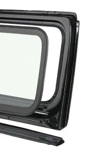 Quadratec Windshield Frame and Components for 76-86 Jeep CJ-5, CJ-7 & CJ-8 Scrambler 12501.0000