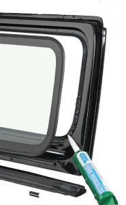 Quadratec Windshield Frame and Components for 87-95 Jeep Wrangler YJ 12501.0001