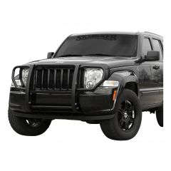 Aries Automotive Grille Guard In Black For 2008-12 Jeep Liberty KK Models Without Headlight Cage 1051