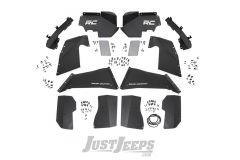 Rough Country Front & Rear Inner Fender Liner Set | Vertex Shocks For 2007-18 Jeep Wrangler JK 2 Door & Unlimited 4 Door Models 10511V