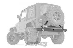 Rough Country Classic Full Width Rear Bumper With Tire Carrier For 1987-06 Jeep Wrangler TJ & YJ Models 10592A