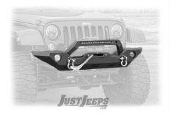 Rough Country Full Width Front LED Winch Bumper For 2007-18 Jeep Wrangler JK 2 Door & Unlimited 4 Door Models 10596