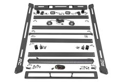 Rough Country Roof Rack System w/ LED Lights For 2007-18 Jeep Wrangler JK 2 Door & Unlimited 4 Door Models 10615