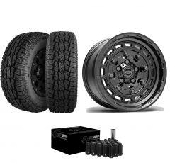 "Just Jeeps 17"" Epic Wheels Jackhammer Package in Gunmetal 285/70R17 For Jeep JK, JL & JT JACKGM"