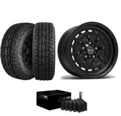 """Just Jeeps 17"""" Epic Wheels Jackhammer Package in Black 285/70R17 For Jeep JK, JL & JT JACKBL"""