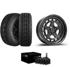 """Just Jeeps 17"""" Epic Wheels Diamond Cutter Package in Gunmetal 285/70R17 For Jeep JK, JL & JT DIAMONDGM"""