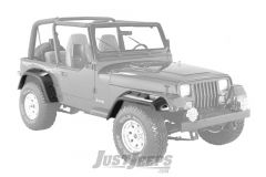 "Bushwacker 6"" Cut-Out Style Fender Flares 4-Piece For 1987-95 Jeep Wrangler YJ Models"