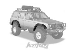 "Bushwacker 5"" Cut-Out Style Fender Flares For 1984-01 Jeep Cherokee XJ 4 Door Models"
