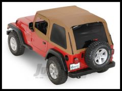 Rampage Frameless Soft Top Kit In Spice With Tinted Windows For 1997-06 Jeep Wrangler TJ 109517