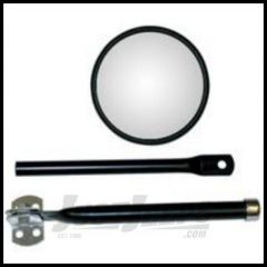 Rugged Ridge Round Mirror with Arm and Bracket For 1941-64 Willys 11001.01