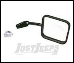 Rugged Ridge Mirror and Mirror Arm Passenger side Black For 1955-86 CJ7 and CJ5 11001.04