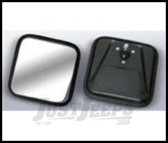 Rugged Ridge Square Mirror Head For With convex mirror glass for passenger side Black 1955-86 CJ Series 11002.02