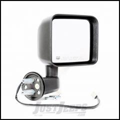 Omix-ADA Black Power Heated Passenger Side Mirror For 2014 Jeep Wrangler JK 2 Door & Unlimited 4 Door Models 11002.27