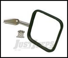 Rugged Ridge Mirror and Mirror Arm Stainless Passenger side For 1955-86 CJ7 and CJ5 11005.04