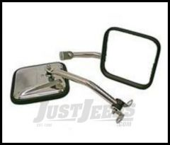 Rugged Ridge Side Mirror Kit Stainless steel 1976-95 Jeep Wrangler YJ and CJ 11005.06