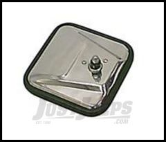 Rugged Ridge Mirror Head Square (Stainless Steel) For 1955-86 CJ Series 11006.01
