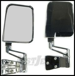 Rugged Ridge Chrome Side Mirrors 1987-02 For Jeep Wrangler YJ and TJ Models 11010.04