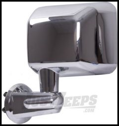 Rugged Ridge Chrome Driver Side Replacement Mirror For 2007-18 Jeep Wrangler JK 2 Door & Unlimited 4 Door Models 11010.13