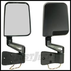 Rugged Ridge LED Mirror Kit Black For 1988-02 Wrangler with Half or Full doors 11015.01