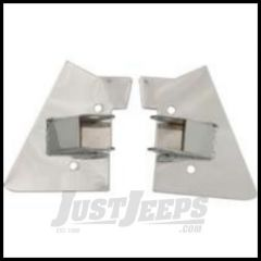 Rugged Ridge Mirror Relocation Brackets Stainless Steel 1997-02 For Jeep Wrangler TJ Models 11026.02